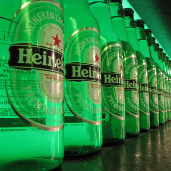 Bottle Display at the Heineken Museum, Amsterdam