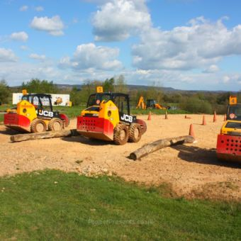 Dumper trucks ready to race