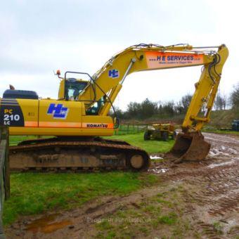 Komatsu PC210 excavator
