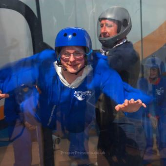 Me indoor skydiving