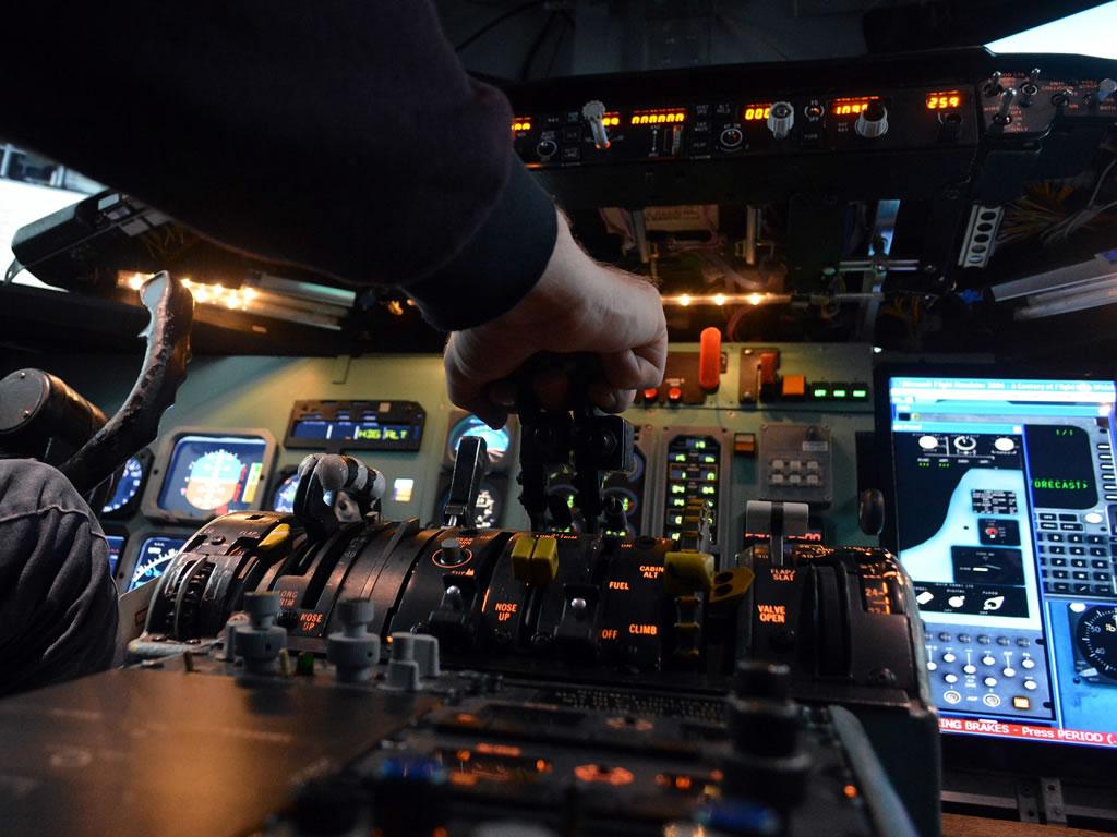 Passenger jet cockpit