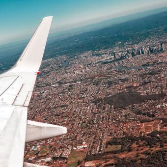 Skyline from an aircraft